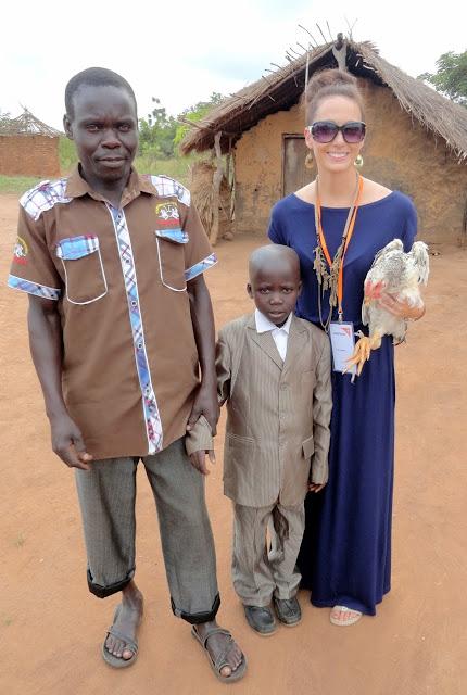 african hut in uganda