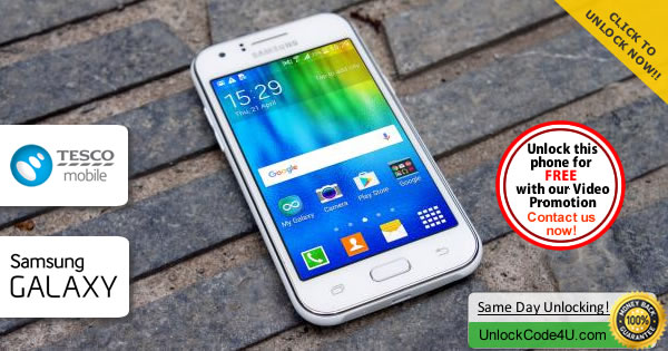 Factory Unlock Code Samsung Galaxy J1 from Tesco