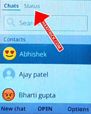 Jio Phone Whatsapp Status Option Hindi