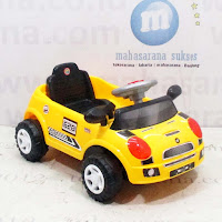 Mobil Mainan Anak SHP SMC628 Mini Compact Car Ride-on Car - Yellow