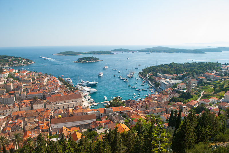the lovely view of hvar from above. image