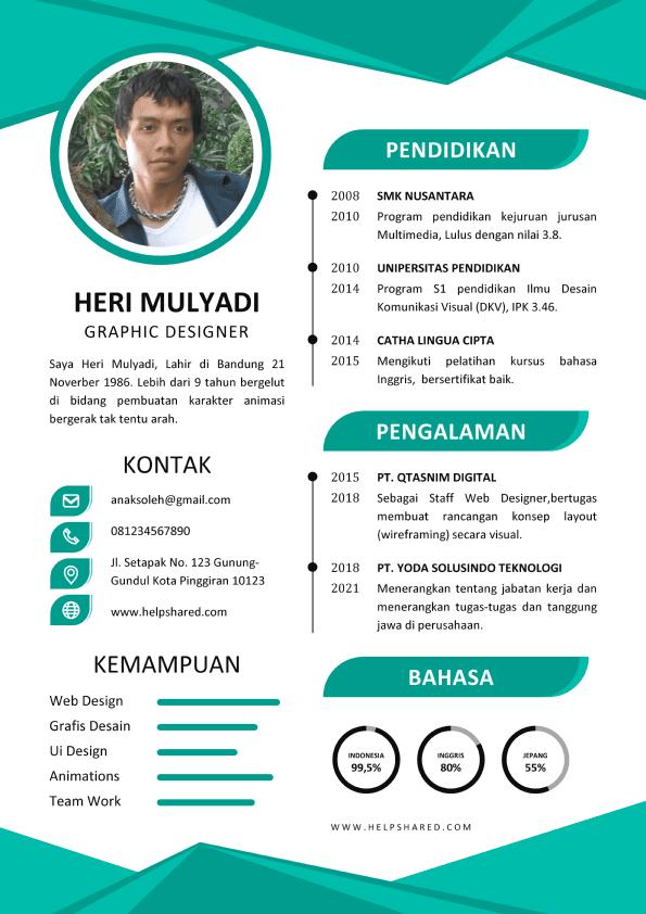 Contoh CV Lamaran Kerja Menarik 3 Curriculum Vitae
