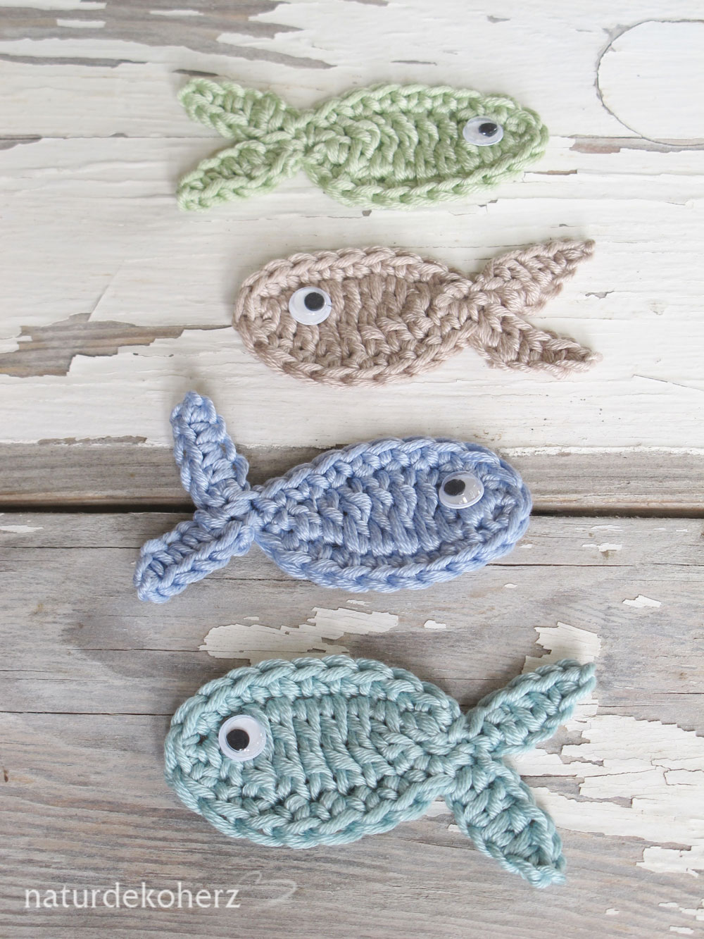 Häkelblog Täglich Neue Anleitungen Fischapplikation Häkelanleitung