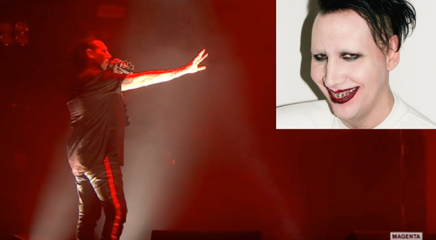 Marilyn Manson olvidó letra canción show paraliza unos momentos