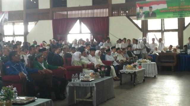 Empat Partai Besar Deklarasikan Toto - Yosa untuk Maju Pilkada Kuningan