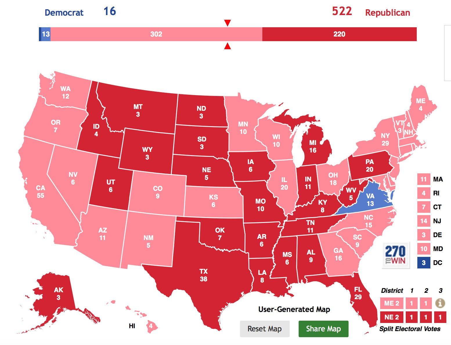 Borepatch: Election 2020 prediction: Trump 522, Whoever 16