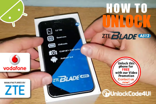 How to Unlock ZTE Blade A512 from Vodafone