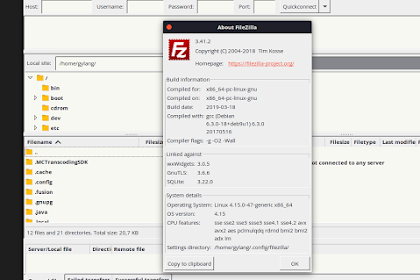 Cara Upgrade Filezilla di Linux!