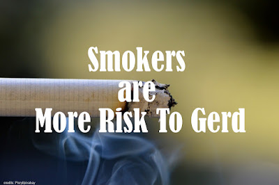 Smokers are More Risk To GERD.