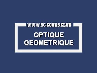 COURS OPTIQUE GEOMETRIQUE PDF