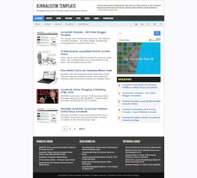 Jurnalistik Template - Template Blog Seo Friendly