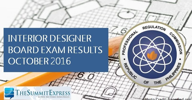 List Of Passers Interior Designer Board Exam Results October 2016