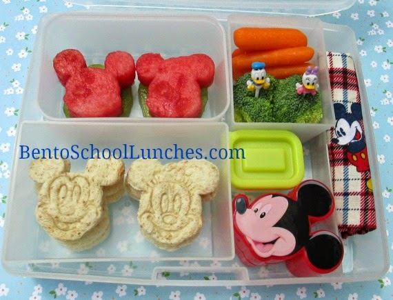 Disney Mickey, Minnie and Friends. Bento School Lunches