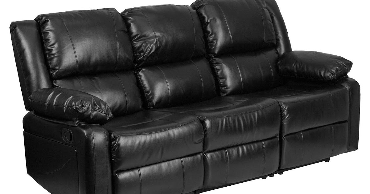 Sofa Station Centre Black Leather Sofa