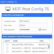 Syst & Deploy : Run a Post Configuration Task Sequence once MDT deployment is completed