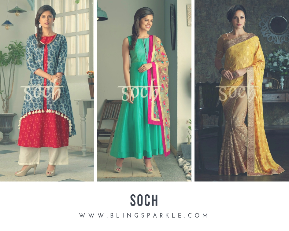 49350a193 Soch is one ethnic brand that has mastered their prints, colorts, works and  fabric.From exclusive designer wear to elegant fashion wear soch is your ...