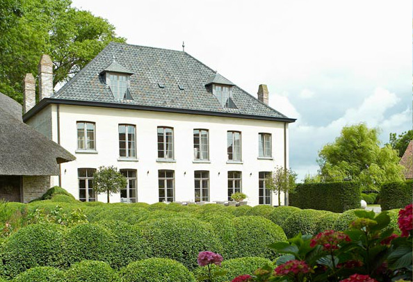 Garnier home, historic Vaucelleshof, former abbey and farmhouse, now home, showroom and event space, image via Garnier (be) website as seen on linenandlavender.net