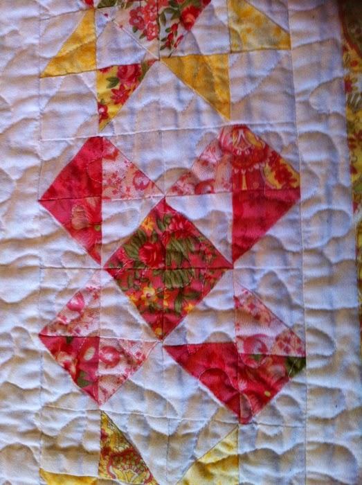 Detailfoto eerste quilt