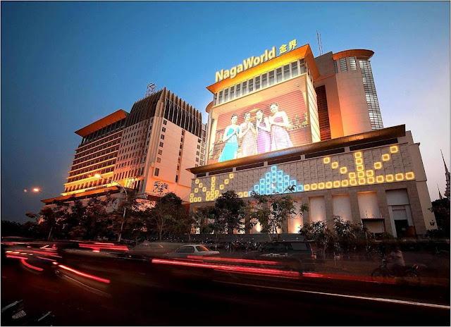 NagaCorp's Naga World began life as a floating casino on the Mekong River