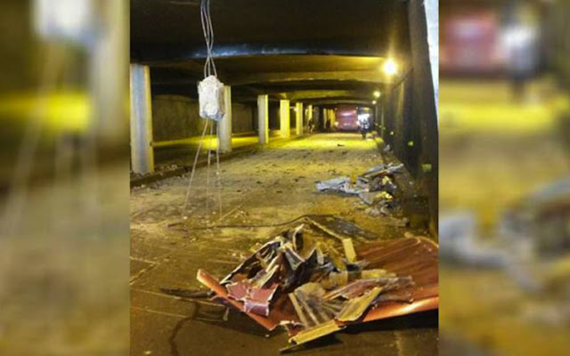 Autobús Yutong del régimen causó destrozos en la Avenida Bolívar