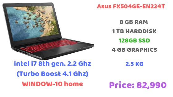 Asus TUF FX504GE-EN224T Gaming Laptop