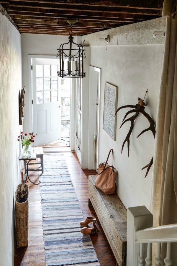 Gorgeous European farmhouse style in a New York apartment by Jocelyn Sinnauer.