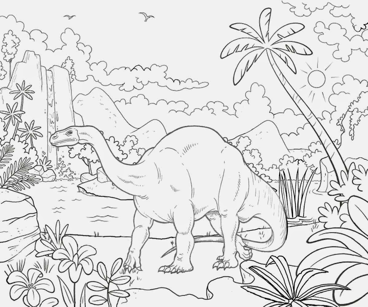 prehistoric coloring pages - photo#20