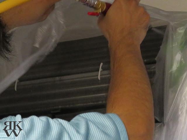 ダスキン エアコンクリーニング 高圧洗浄 熱交換フィン掃除