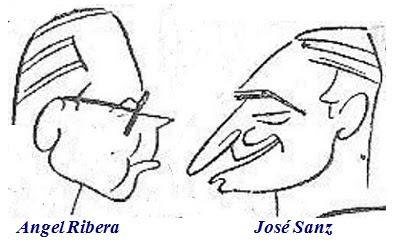 Caricaturas de Ángel Ribera y José Sanz