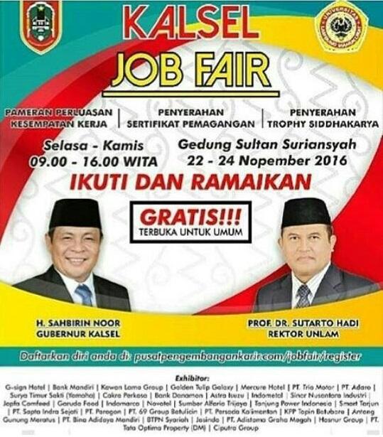 Jadwal Kalsel Job Fair UNLAM 2016