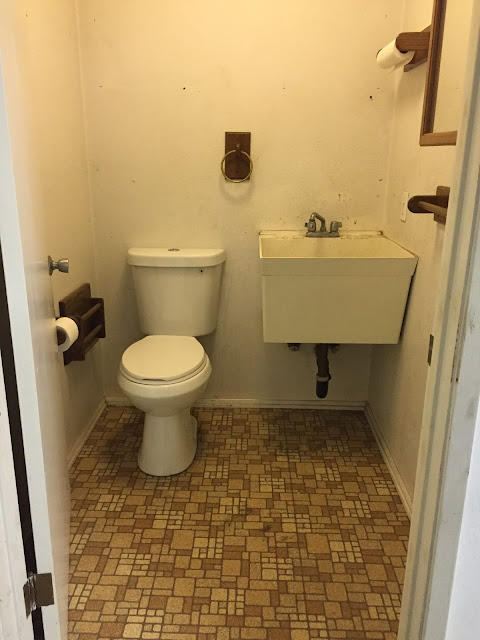 Hoping to take this powder room from drab to fab!