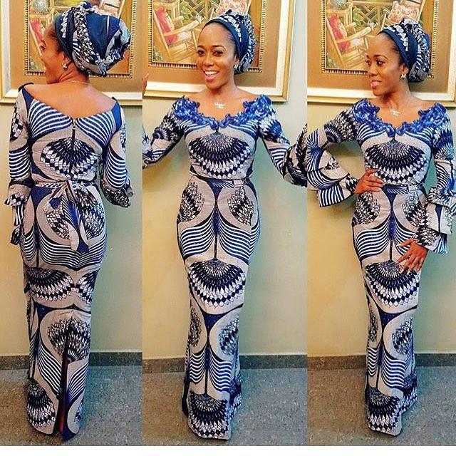 2018 Ankara styles for Big Ladies | Ankara Long Gown Designs