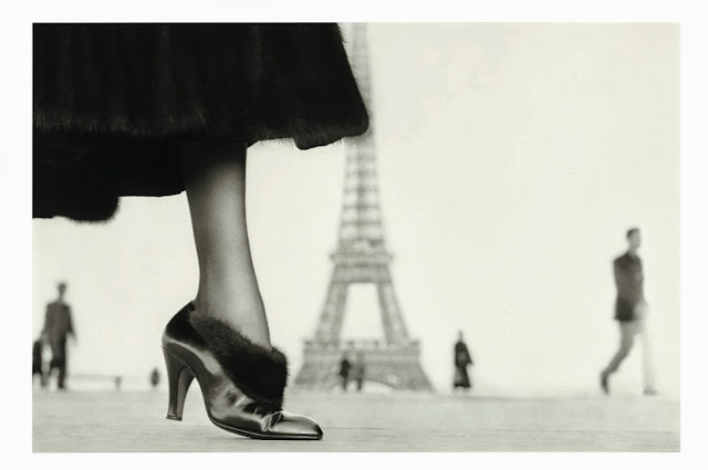 Richard Avedon Shoe, designed by Perugia, Place du Trocadéro, Paris, August 1948