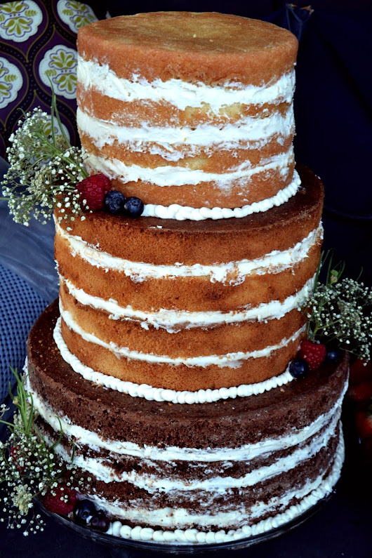 Naked Wedding Cake!