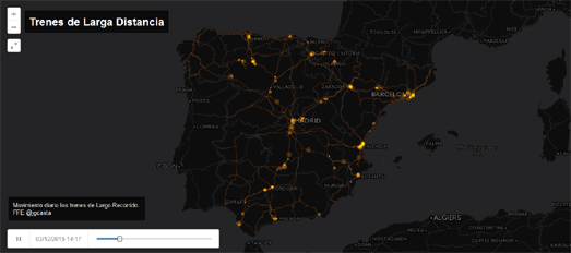 Maps Mania: 24 Hours of Train Traffic in 60 Seconds
