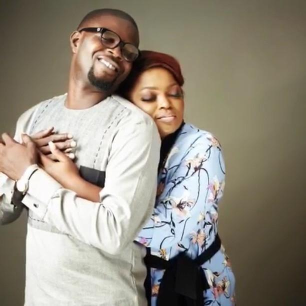 Image result for Funke Akindele Cuddles Her Twins
