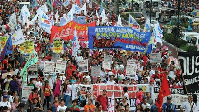 Thousands of workers march in Philippines on May Day, protesting short-term contracts