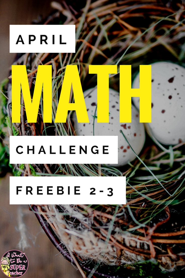 FREE for Spring! Chocolate Bunny Math Challenges - I Want to be a