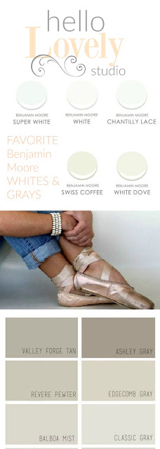 Best Benjamin Moore White and Gray by Hello Lovely Studio