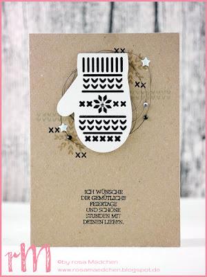Stampin' Up! Weihnachtskarten mit Handschuhen aus Festliche Fäustlinge