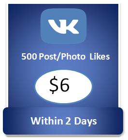 500 buy Vkontakte Photo Likes