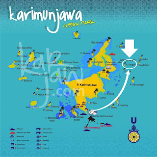 map pulau tengah karimunjawa