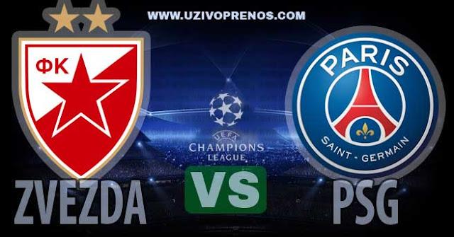 Liga šampiona: PSG - Crvena zvezda uživo prenos