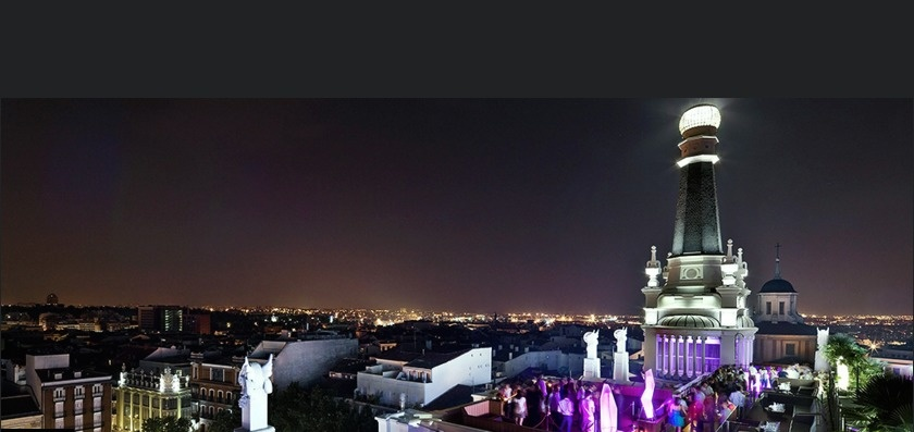 The World's 30 Best Rooftop Bars… Everyone Should Drink At #9 At Least Once. - The Me Madrid Reina Victoria is part of this 1923 historic building.