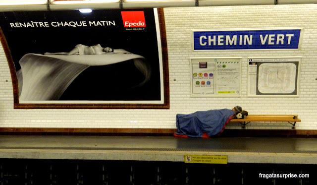 Estação de Metrô em Paris
