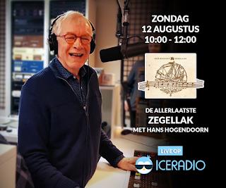 Hans Hogendoorn met de allerlaatste Zegellak op Ice Radio