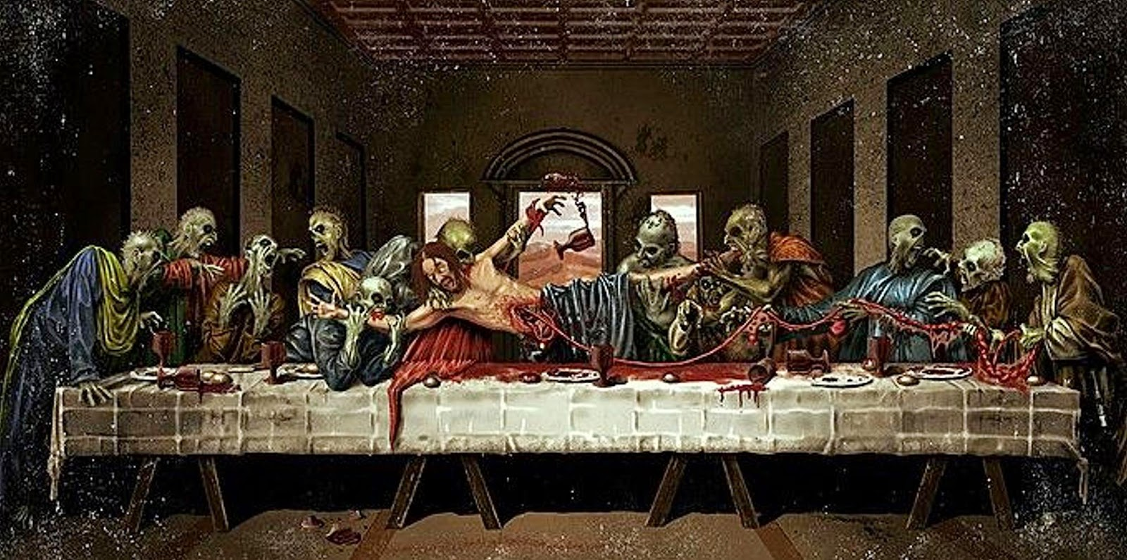 zombie last supper picture