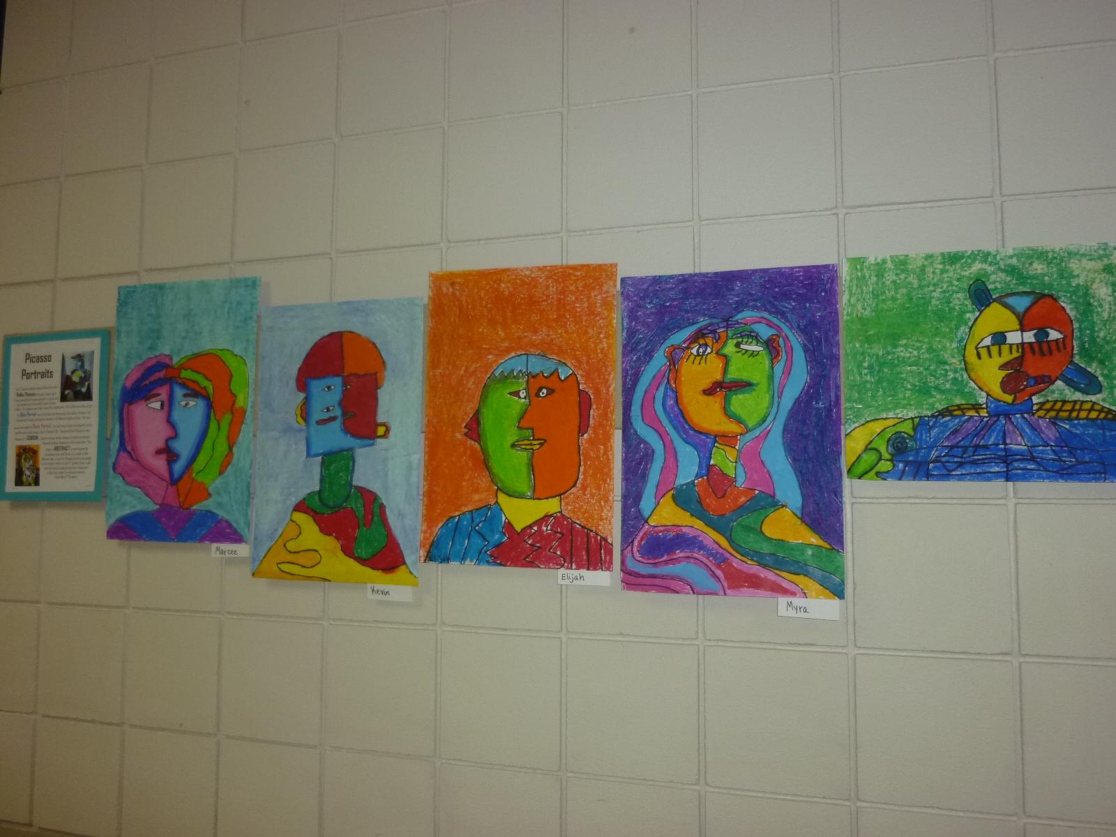 Mrs Werner S Art Room 3rd Grade Picasso Self Portraits