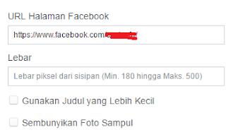 memasang widget facebook fanspage di website