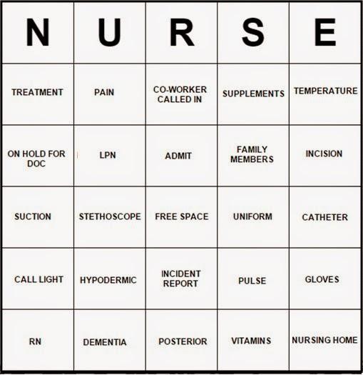 Life With Angeline Nurse Bingo Free Templates